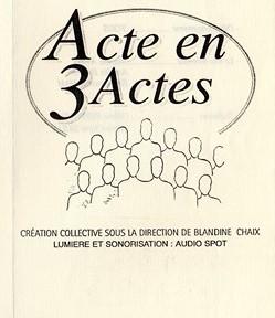 Acte en 3 actes